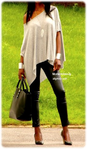♥ Simili-cuir + Escarpins Pointues #Outfit 2