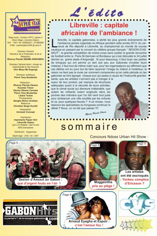 Edito : Libreville , la capitale africaine de l'ambiance !