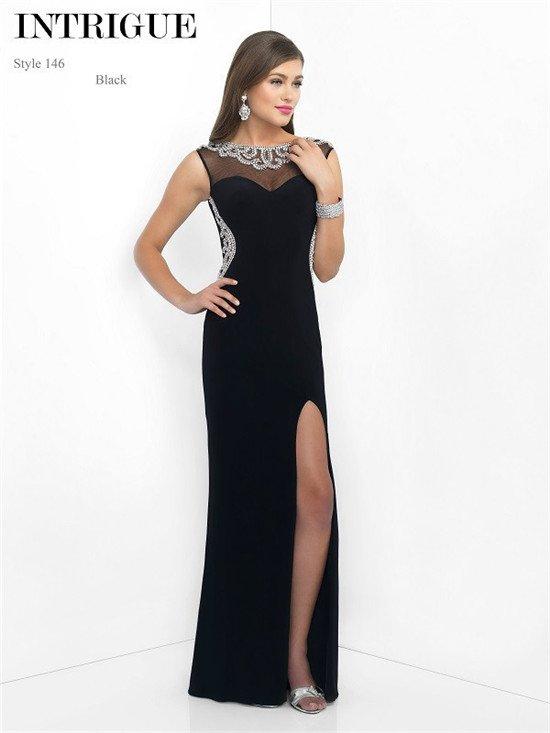 Fashionable Blush Long Black Prom Dresses