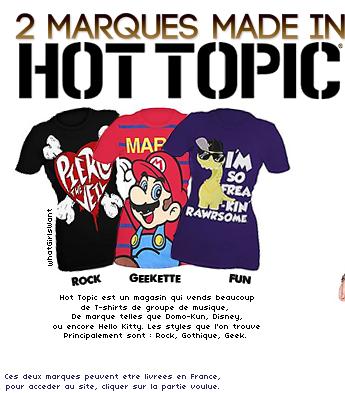 _______-________BON PLAN : 2 Marques Américaines, 2 styles bien différents. (Livraison possible en France.)