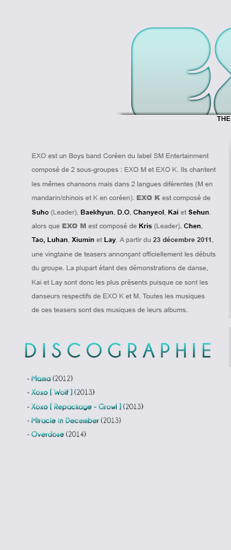 Article 5 : EXO - LE GROUPE