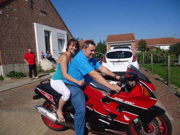 Tonton et moi sur ca moto