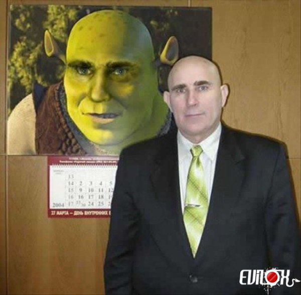 Shrek ! Shrek, on t'a reconnu !