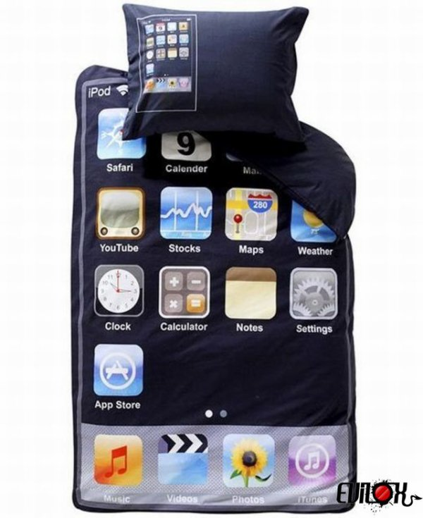 Iphone addict Je ne me sépare jamais de mon Iphone, même au lit. d'article ici !