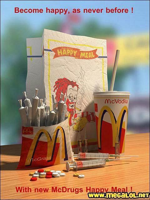 """e suis tout happy ! Tu m'étonnes que ce soit un """"Happy Meal"""" !!! Pour contrer """"Supersize me"""", fallait bien trouver un moyen !"""