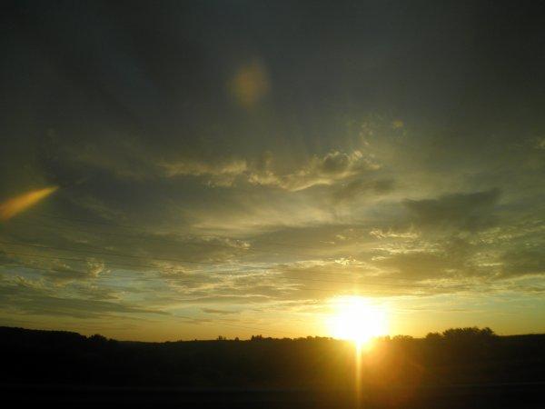un petit  coucher de soleil  de chez moi