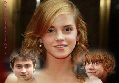 Emma Watson embrasse en serrant les dents ...