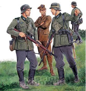 3 conard et un officier polonais