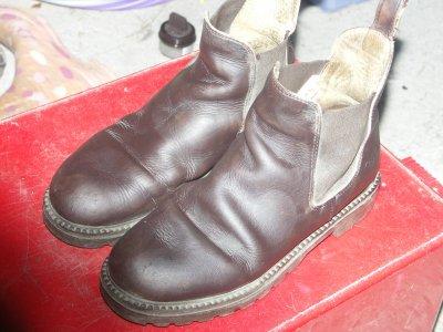 Boots marron en cuir 38
