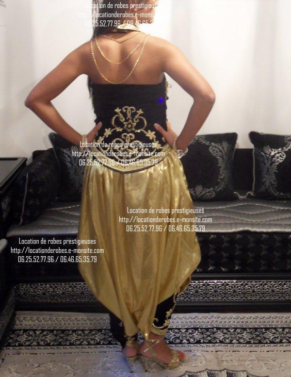 """Karakou Haute couture """"dos nu strass"""""""