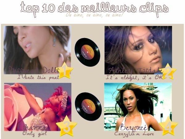 _ _ _  Top 10 des meilleurs clips.  On aime, on aime, on aime! _ _ _