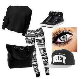 Vêtement black and white.
