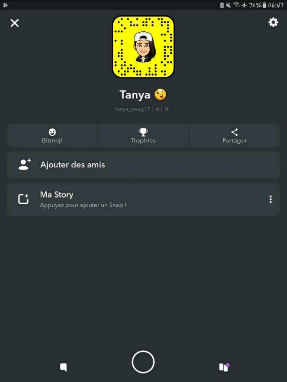 Si vous voulez  m'ajouter sur Snapchat,  ben voilà  mon snap....