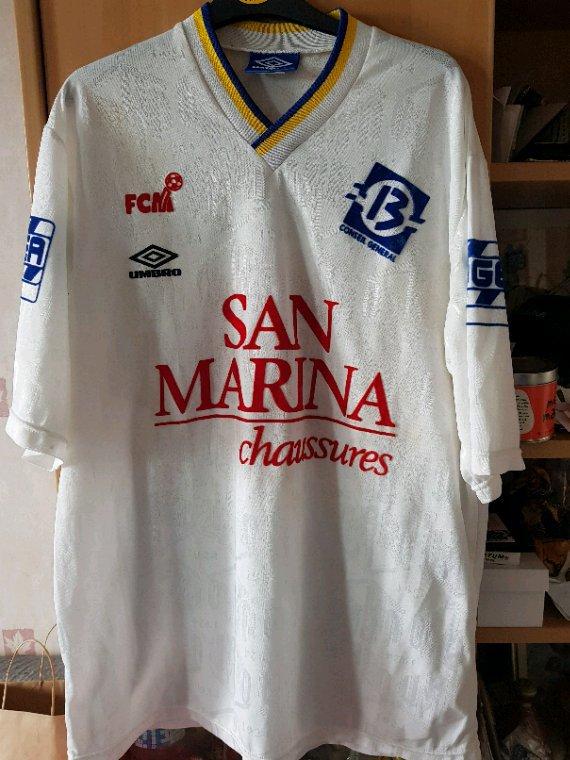 Maillot du FC Martigues porté en 1993 par Didier Tholot