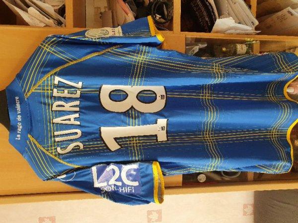 Maillot de David Suarez porté avec Arles Avignon contre Nantes buteur ce soir la