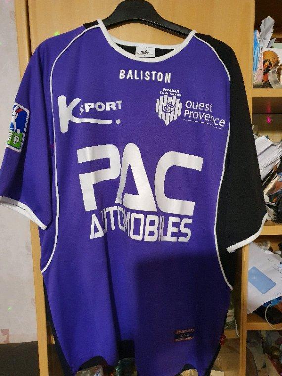 Maillot porté en ligue 1  par Christophe Dumoulin avec Istres