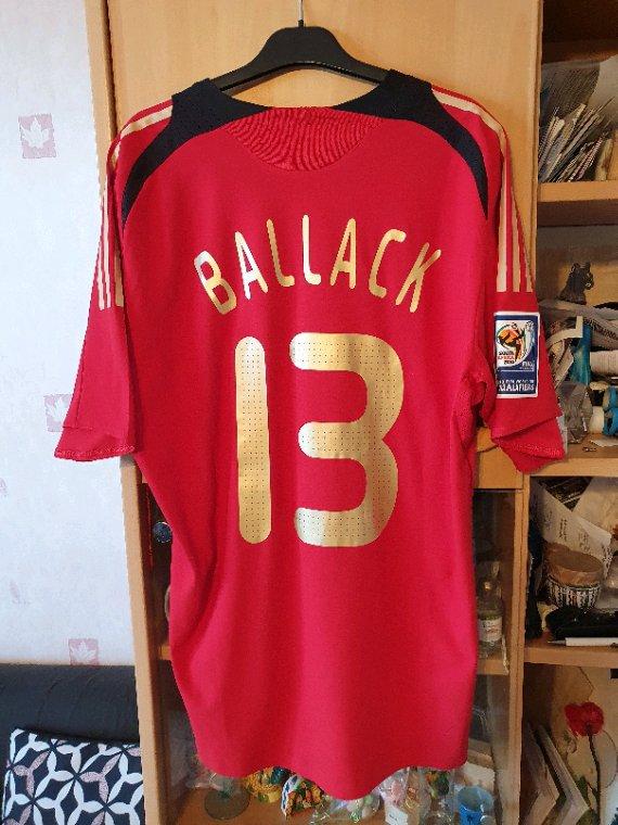 Maillot porté de Ballack avec la mannshaft contre l' Azerbaïdjan