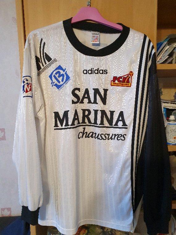 Maillot FC Martigues porté en 1997-1998 en division 2 par Stéphane Odet