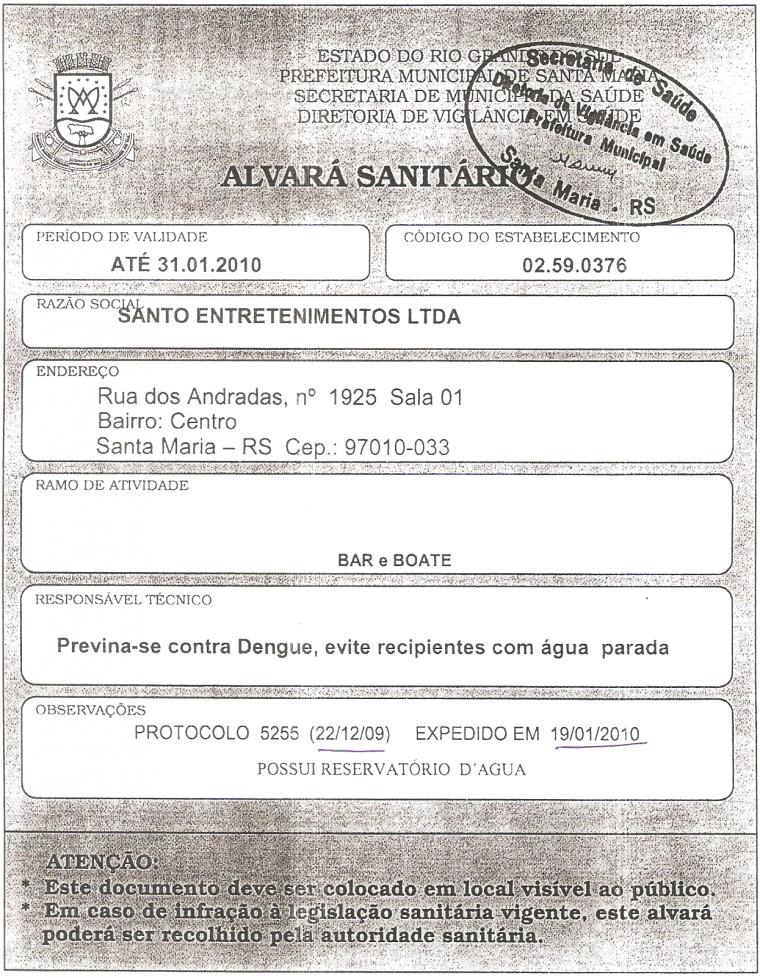 Documentos da Prefeitura de Santa Maria, Enviados com Exclusividade