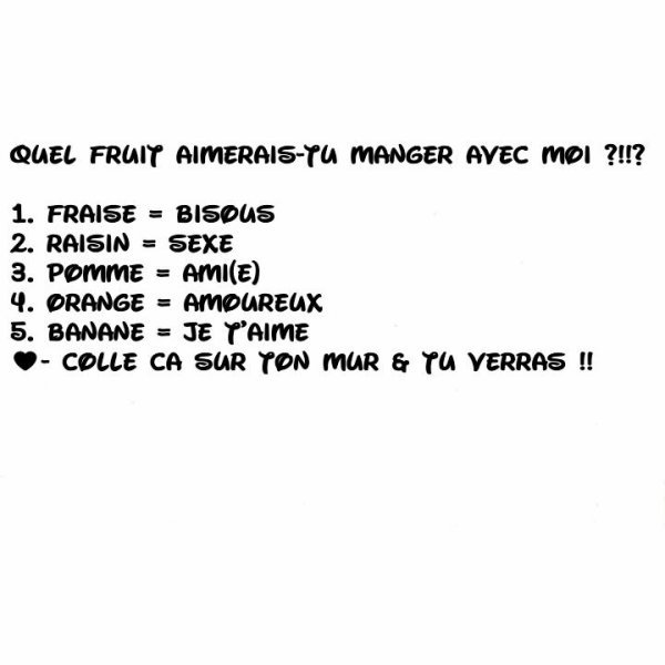 Quel fruit...?