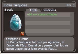 Acquisition de 2 nouveaux dofus Turquoise.