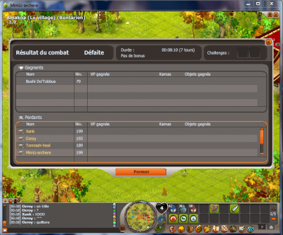 2 screen d'aggro perco de la guilde Frozen.