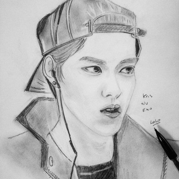 Kris wu Exo kpop que j'ai dessinée
