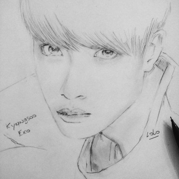 Exo kpop dessin que j'ai dessinée