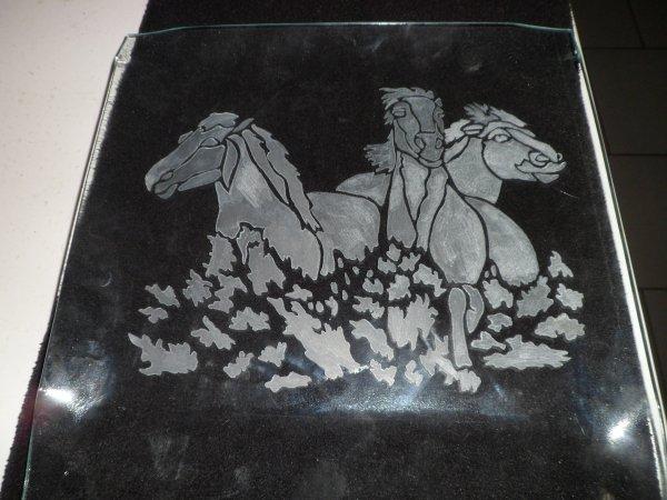 gravure et peinture (disponibilé X1)