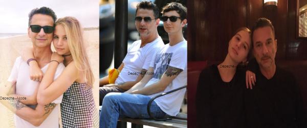 Dave a eu deux enfants, Jack né en 1987, et Stella Rose, née en 1999. Il a adopté James Roger le fils de Jennifer, sa femme actuelle (pas sur les photos). Stella ressemble beaucoup à son pere, elle est tres jolie !