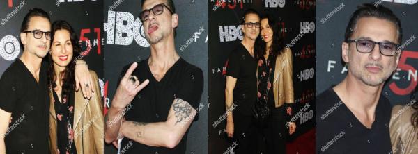 """Le 08.05.18 : Dave & sa femme etaient à la première de """"FAHRENHEIT 451"""" à New York!"""