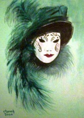 Masque venitien chanah artiste peintre vous invite - Masque a peinture ...