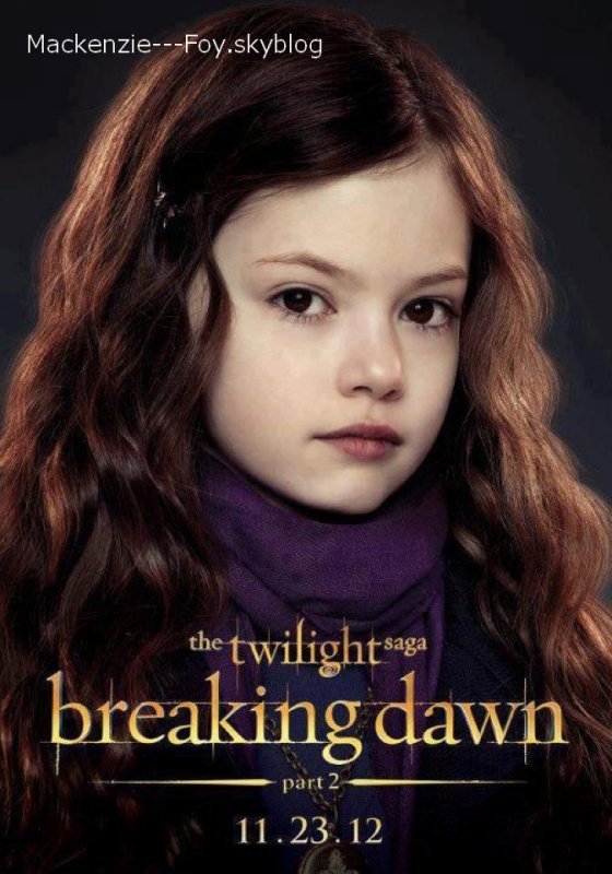 Nouvelle photo de Twilight Révélation partie 2 + Affiche Renesmée