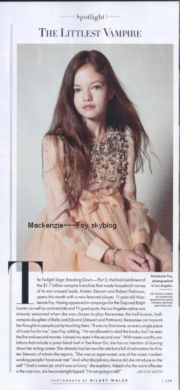 Bande-Annonce de Breaking Dawn part 2 VF (+) Mackenzie pose pour Vanity Fair (+) Une photo du tournage de BD 2 (+) Un nouveau photoshoot !
