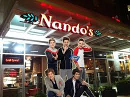 Nando's aime les 1D <3 :D