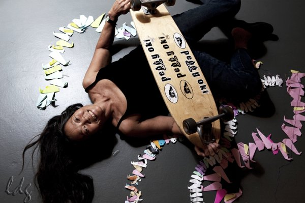 Peggy Oki l'une des skateuses les plus connus durant les 70's