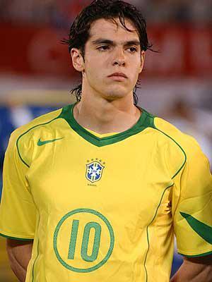 Voici Kakà, l'attaquant brésilien avec son maillot national