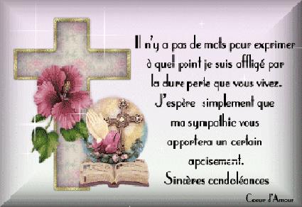 Mes  Sincères  Condoléances  Mon  Amie  Monila