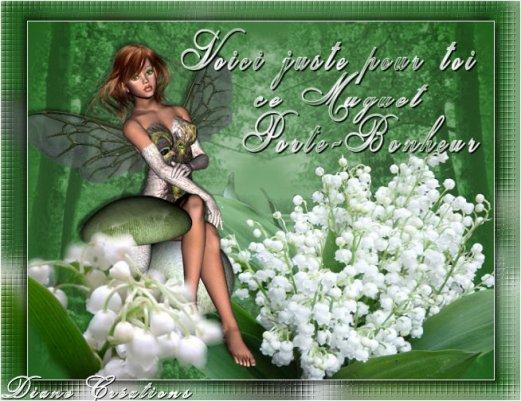 Un brin de muguet et un porte bonheur pour ma ch rie d 39 amour pour le 1er mai je t 39 aime blog - Cactus porte bonheur ...