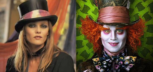 Vanessa Paradis, the Mad Hatter, who lOoks like whO ?!