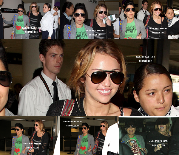 .Ce 8 septembre Miley arrivant à l'aéroport LAX de Los Angeles .