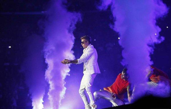 Justin au Staples Center de Los Angeles    le 24 juin