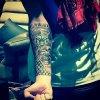 Tatouages de son bras droit