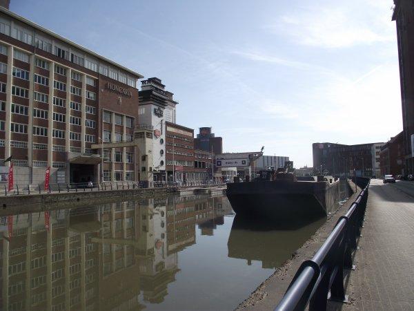 Dragage du Vaartkom au centre de Louvain