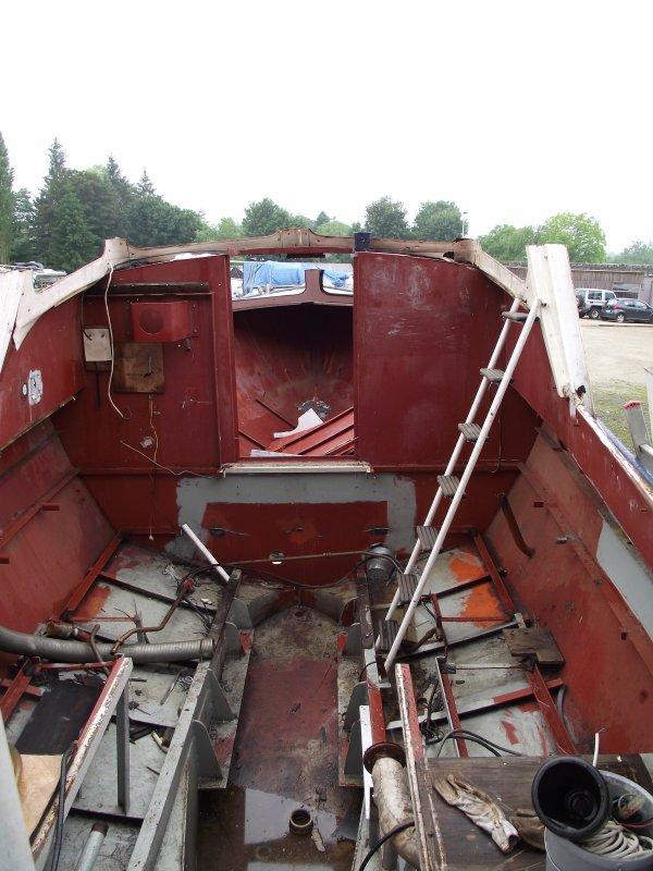 Déchirage de notre bateau de plaisance