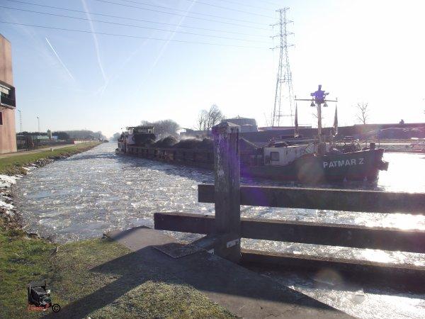 Canal de Louvain gelé, janvier 2017