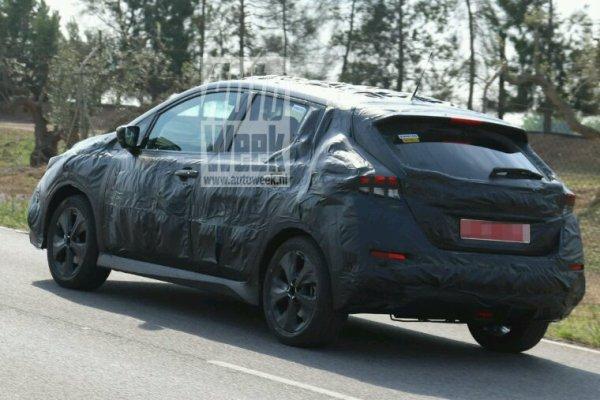 Nissan leaf 2018 deja les tets prototypes