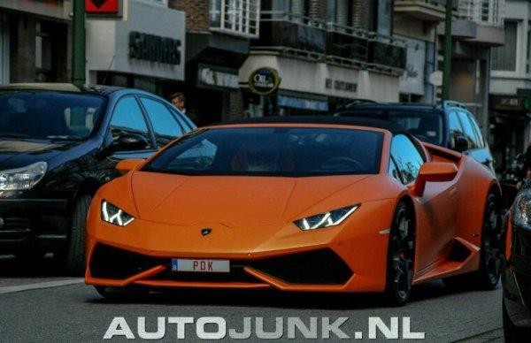 La Lamborghini huracan vue a knokke en Belgique modele rare