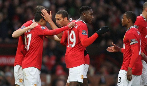 Manchester United   4  Nani (17, 56), Rooney (27, 62)  Wolves   1  Fletcher (47)