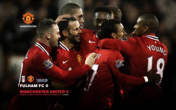 Fulham   0  Manchester United   5  Welbeck (5), Nani (28), Giggs (43), Berbatov (90), Rooney (88)